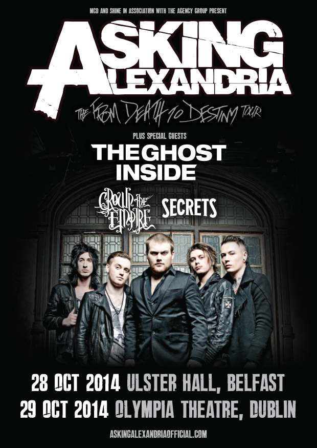 Asking Alexandria Plus Guests at Olympia Theatre 29th October 2014